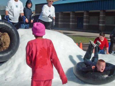 School Snow Blown Party