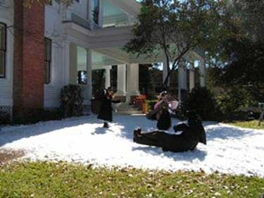 Blown Snow at Houston Home