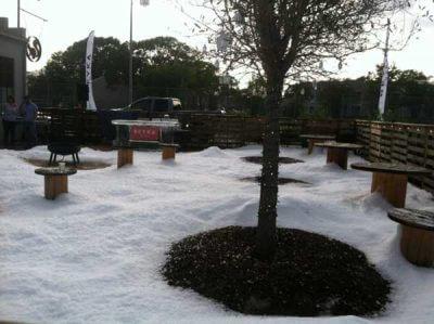 Blown Snow from Snow Machine in Houston