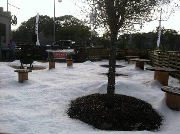 Blown Snow from Snow Machine in Houston