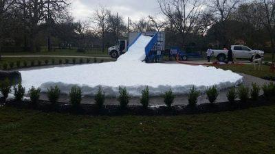 Circle Snow Slide in Houston