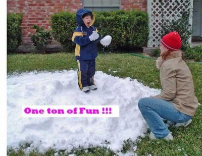 Fun On Blown Snow In Houston