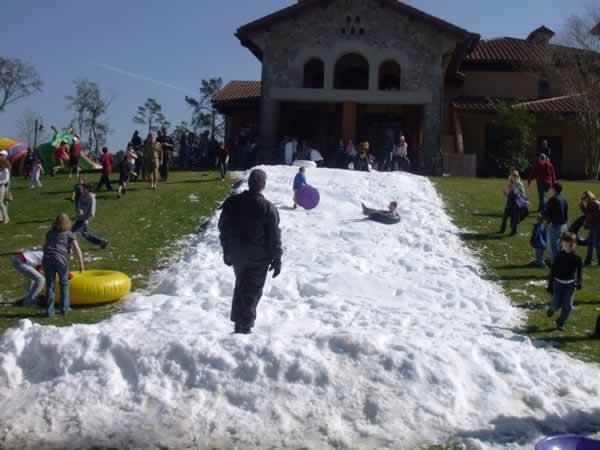Fun on Snow Slide Rides in Houston