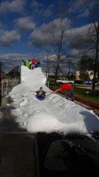 Fun Summer Snow Slides in Houston
