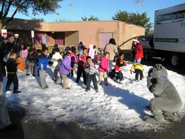 Kids School Snow Party Event