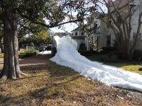 Man Made Snow Slide in Houston