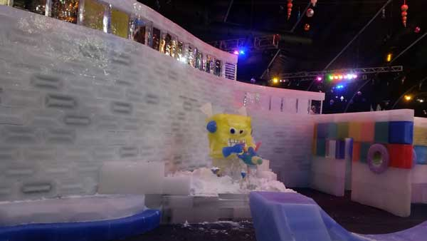 Moody Gardens Ice Display
