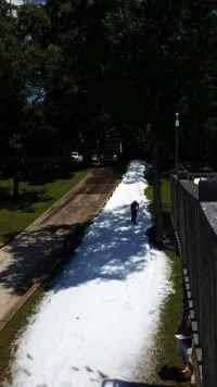 Snow Slide in Houston Area