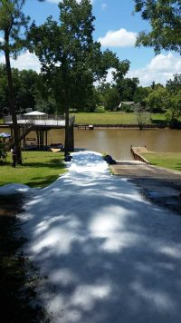 Snow Slide Into Lake