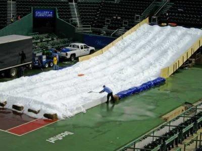 Snow Slide Ride Preparation