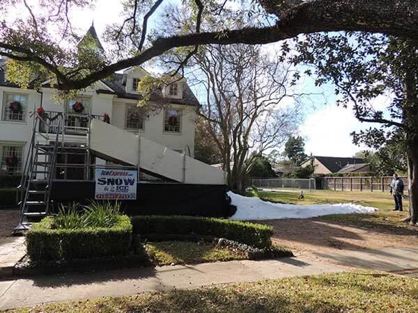 Snow Slides In Houston Texas