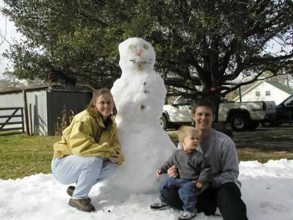 Snowman From Ice Express Snow