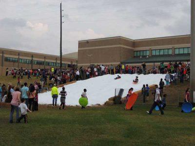 Texas School Snow Party