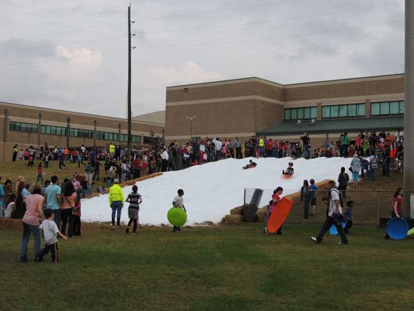 Texas School Snow Party