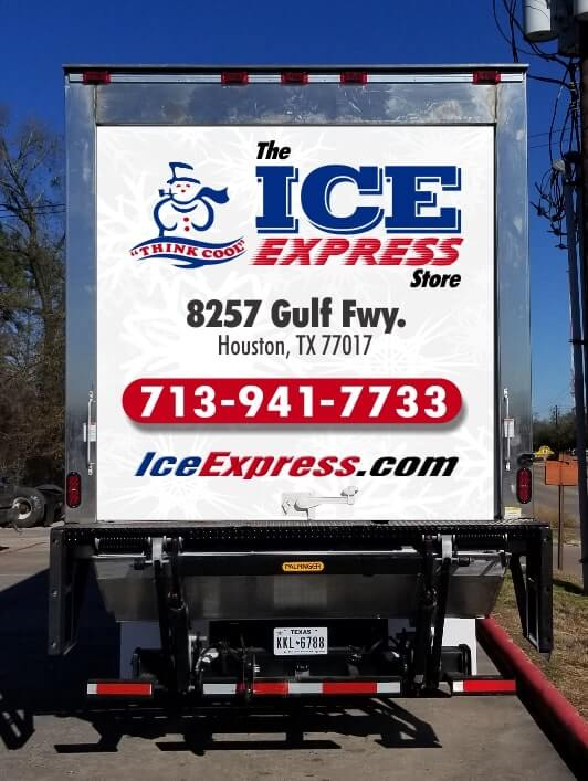 Ice Express Ice Delivery Truck