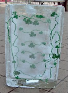 St Patricks Day Custom Block Of Ice