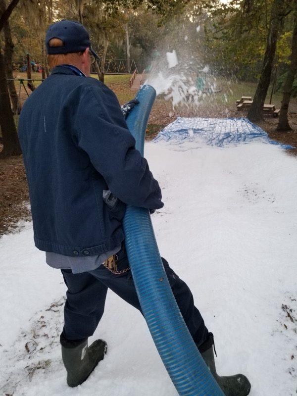 Natural Snow Slide
